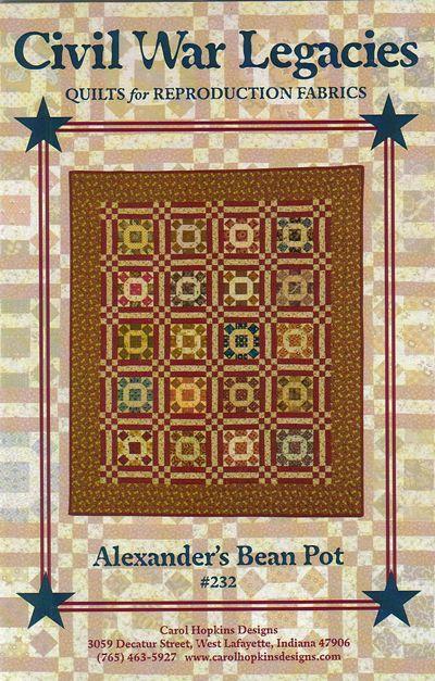 Alexander's Bean Pot - quilt pattern