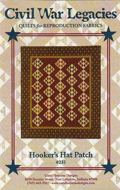 Hooker's Hat Patch - quilt pattern