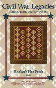 Hooker's Hat Patch - quilt pattern
