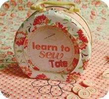 Learn To Sew Tote Tin