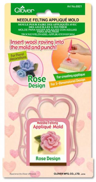 Needle Felting Applique Mold ~ Rose Design